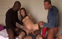Great gangbang video with Czech girl