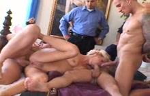 Double penetrated housewife